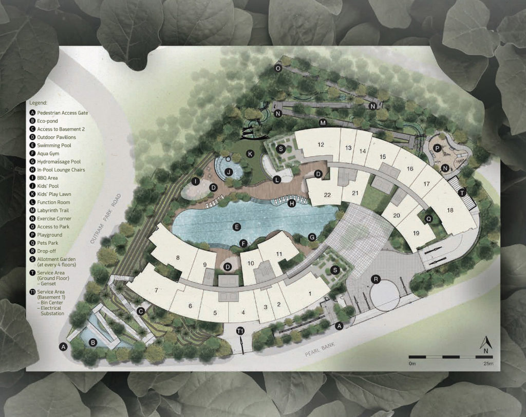 One Pearl Bank Site Plan 1 Singapore
